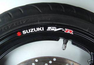 Suzuki SV R Wheel Rim Decals SV650R SV1000R 650 1000