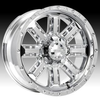 ALLOY NITRO CHROME WITH 33X12 50X22 TOYO OPEN COUNTRY MT WHEELS RIMS