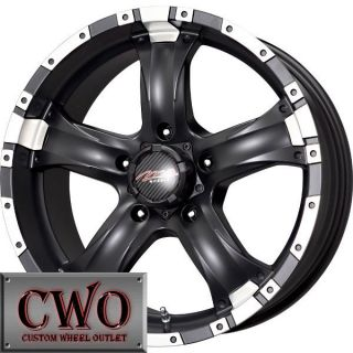 15 Black MB Chaos 5 Wheels Rims 5x114 3 5 Lug Jeep Wrangler Explorer