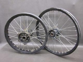 KX 250f KXF250 KX450F 450f Black Front Rear Wheels Rims 06 12