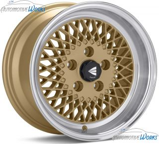 15x7 Enkei Enkei 92 4x100 38mm Gold Rims Wheels inch 15