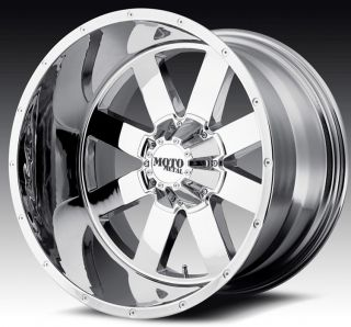 20 inch 20x12 Moto Metal Chrome Wheels Rims 5x5 5x127 44 Lifted Jeep