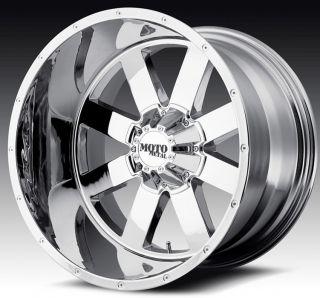 20 inch 20x12 Moto Metal Chrome Wheels Rims 5x5 5x127 44 Lifted Jeep