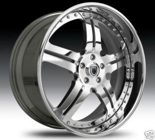 20 asanti AF135 Wheels Tires Chrome 2 Piece Rims 2pc