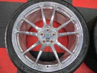 12C HRE Full Polished P44SC 20 Conical Rims Monoblock Wheels