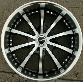 Strada Sole 200 20 Black Rims Wheels Acura TL TSX 20 x 8 5 5H 40