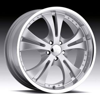 15 inch 5x100 Silver Machined Vision Shockwave Wheels Rims 5 Lug 15x6