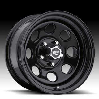 Vision Soft 8 Black Steel Wheels Rims 5x4 5 Jeep Wrangler TJ YJ