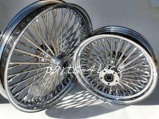 Harley Fat Spoke Wheels 21x2 15 16x3 5 Set 50 SPK New