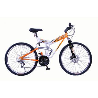 Titan Fusion Unisex 19 Wheel 21 Speed Mountain Bicycle Bike Orange