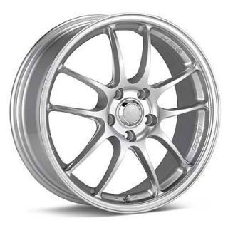 17 Enkei PF01 Silver Rims Wheels 17x7 48 5x114 3 Mazda3 SPEED3 SPEED6