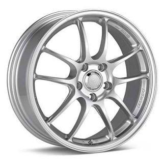 17 Enkei PF01 Silver Rims Wheels 17x7 48 5x114 3 Mazda3 SPEED3 SPEED6