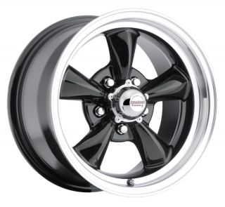 15 inch 15x7 Black Wheels fit Chevy Camaro 67 81 (5x4.75 lug pattern