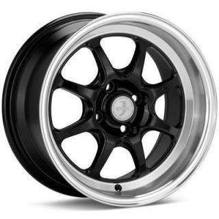 15 Enkei J Speed Rims Wheels Black 15x7 4x100 25