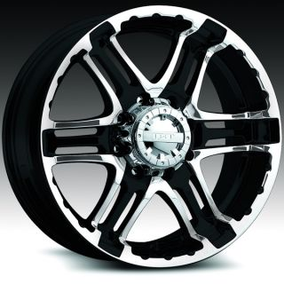 Double Pump Gloss Black Machined Escalade Silverado Wheels Rims