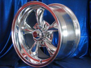 15 15x7 15x8 Polished Rev Classic 100 Wheels Rims 5x4 50 Lug Ford