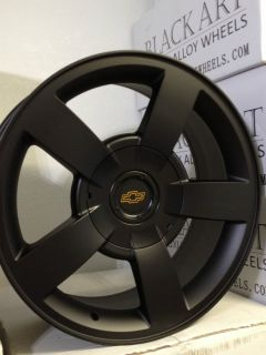 Black Chevrolet Silverado SS OE Factory Replica Wheels Rims 6x5 5