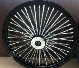 Fat Spoke 21 Front Wheel Black 21 x 3 5 Dual Harley FLHT FLHTC