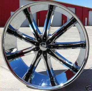 22 22 inch 22x8 DW 29 FWD Wheels Tires Rims 5x115 Chevrolet Impala