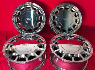 Ford Taurus Mercury Sable Sho Factory 15 Chrome Wheels Rims