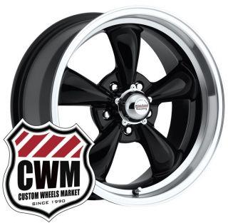 17x8 Black Wheels Rims 5x4 50 Lug Pattern for Plymouth Barracuda