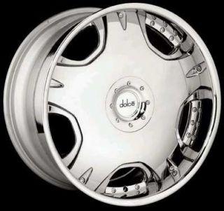 22 Dolce Wheel Tires DC12 Chrome Rims 22 6x5 5