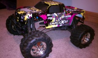 HPI Racing Savage 25 Radio Controlled Truck new rims tires body RTR