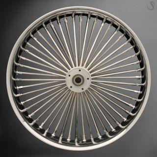 Fat Spoke 21 Front Wheel Chrome 21 x 3 5 Harley Dyna Wide Glide FXDWG