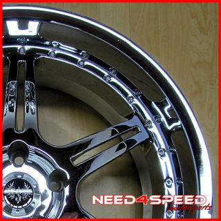 20 Stern St 2 20x9 5 Chrome 5x120 BMW M5 M6 Wheel Rim
