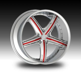 22 Chrome Rims Tire 5x115 120 Chrysler Dodge Charger