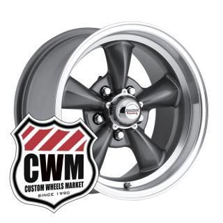 15x8 Charcoal Gray Wheels Rims 5x4 50 lug pattern for Ford Ranchero 66