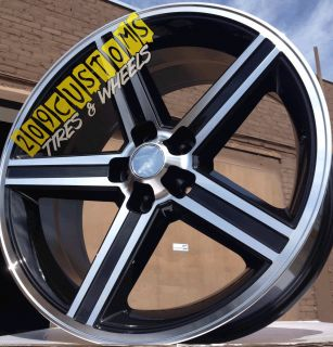 24 24 inch Black IROC Wheels Rims Tires 5x115 Charger Magnum