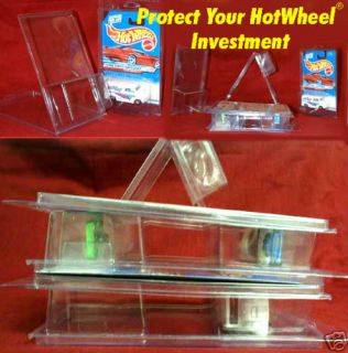 Hot Wheels 23 Plastic Protectors Stackable Clam Shells