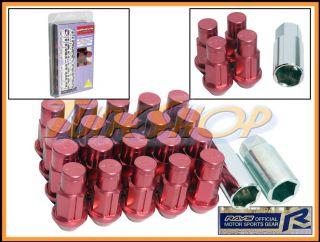 Wheel Lock Lug Nuts 12x1 25 1 25 Acorn Rim Dura 20 Red N