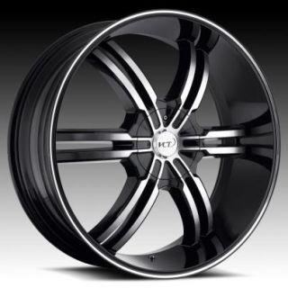 22 24 26 28 VCT Torino Black Wheels Rims Chevy Tahoe Saburban Denali
