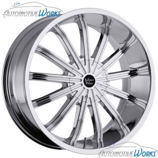 Vision Xtacy 5x127 5x5 5x135 15mm Chrome Wheels Rims inch 24