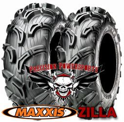 27 Maxxis Zilla Mud Tires on 12 SS STI Wheels 4 Any ATV Honda Yamaha
