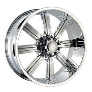 28 Chrome DW 903 8 Lug Wheels Rims H2 295 25 28 Tires
