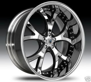 26 asanti 26 inch AF143 AF 143 Chrome Multi 2 Piece Rims Wheels Tires