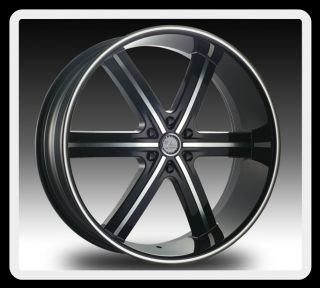 6X4 5 5 5 ESCALADE AVALANCHE COLORADO TAHOE YUKON BLACK WHEELS RIMS
