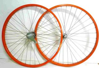 Bike 26 x 1 75 Coater Brake Front Rear Wheels Rims Orange