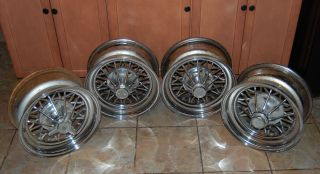 Cragar 30 Spoke Star Wire 15x7 GM Uni Lug Rims x4 Hot Rod Rat Rod RARE