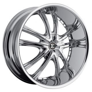 26 inch 2CRAVE NO21 Chrome Wheels Rims 6x5 5 Avalanche Silverado