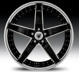 22 asanti AF166 Black Chrome Wheels Rims 2 Piece Tone