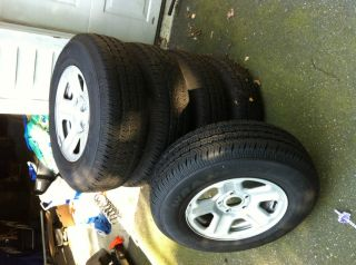 Tires and Rims P225 75R16 with Steel Rims Jeep Wrangler 2012