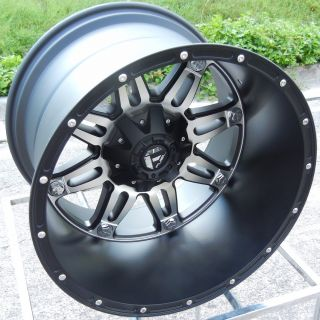 20x14 Black Machined Fuel Hostage Wheels Rim Chevy Silverado GMC 1500