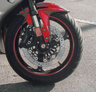 Red Car Motorcyle Rim Stripe Wheel Decal Tape Sticker 12 Colors to