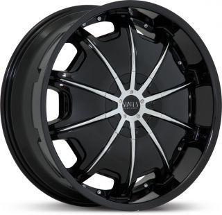 Opus Black Suburban Wrangler Navigator Yukon FJ Wheels Rims