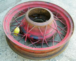 1933 34 Ford 17 Spoke Rim Wire Wheels Hot Rat Street Rod Flathead Vtg