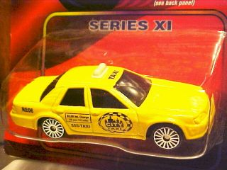 Maisto Speed Wheels Diecast 1 64th Scale Series XI Taxi Cab